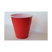 Pahare Plastic Coveris Expert Logo Covim Rosii, 166 ml, 120 buc