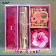Rose Fragrance Pack Aroma Incense Burner Candle Sticks & Cones