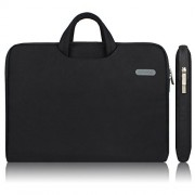 Arvok Water-resistant Canvas Fabric Laptop Sleeve With Handle & Zipper Pocket/Notebook Computer Case/Ultrabook Tablet Briefcase Carrying Bag For Acer/Asus/Dell/Lenovo/HP/Samsung/Sony(11.6 inch, Black)