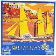 Hometown Collection Ocean Star 1000 Piece Jigsaw Puzzle By Heronim by Mega Puzzles