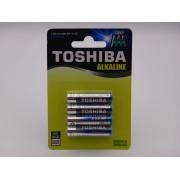 Toshiba R03 AAA baterie alcalina blister 4