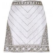 River Island White embellished mini skirt