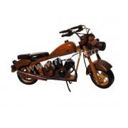 Motocicleta ornament din lemn/metal