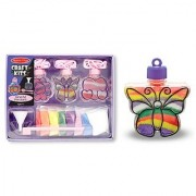 Melissa & Doug Sand Art Pendants Craft Kit - Flower Heart and Butterfly Pendant Jewelry