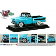 1958 Chevrolet Apache Cameo Pickup Truck Tarton Turquoise 1/24 by M2 Machines 40300-43A by Castline