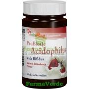 Acidophilus masticabil capsuni 60 tablete Vitaking