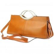 Florence Leather Market Borsa a mano Cipressino con doppi manici in pelle lucida (212)
