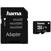 Card de memorie Hama microSDHC, 32GB, Clasa 10, UHS-I, pana la 45 MB/s + Adaptor SD