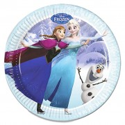 Frozen Ice Skating Paper Plates - Pack Of 8