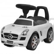 vidaXL Детска кола за яздене Mercedes Benz, бяла