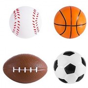 Sports Themed Mini Stress Balls Squeeze Foam for Anxiety Relief Relaxation Party Favor Toy Gifts (12 Pack) by Super Z Outlet