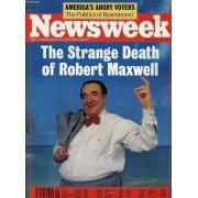 Newsweek, Nov. 18, 1991 (Contents: The Strange Death Of Robert Maxwell. Nazi, Klansman, Governor , (David Duke). Magic's Message In The Aids War...)