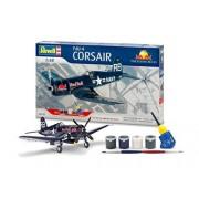Revell Set de regalo F4U-4 Corsair Volador Bulls Avión Maqueta De Plástico En Kit by ToyCenter