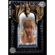 Decor halloween oglinda cu liliac