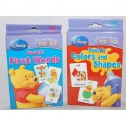 Set Of 2 Winnie The Pooh Baby First Words And Colors And Shapes Flash Cards
