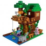My World Jungle Tree House Compatible LegoINGlys Technic Model Building Blocks Kits Classic Educational Children Toys 406 Pcs