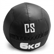 CAPITAL SPORTS Bravor Medecine ball Wallball PVC Double couture 6kg - noir