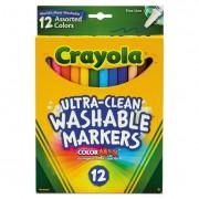 Washable Markers, Fine Point, Classic Colors, 12/set