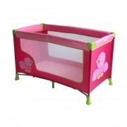 Prenosivi Krevetac Nanny 1 Nivo Birds Pink BERTONI