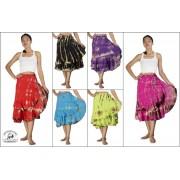 Siam Secrets Tie Dye Wrap Skirt Tiered Gypsy Beach Wrap