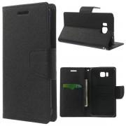 Korean Mercury Fancy Diary Wallet Case for Samsung Galaxy Alpha - Black