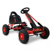 Kids Pedal Powered Racing Go Kart Red