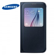 Genuine Samsung Galaxy S6 S-View Flip Cover - Blue Black