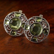 rosegal Pair of Chic Artificial Gem Hollow Out Clip Earrings For Women