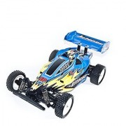 ALEKO 06080 4 Wheel Drive Electric Power RC Off Road Buggy Blue 1 10 Scale Super Power Digital Stop Function Accele