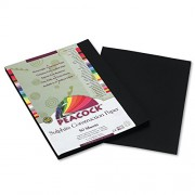 Peacock Sulphite Construction Paper, 76 lbs., 9 x 12, Black, 50 Sheets/Pack