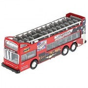 Las Vegas 6 Double Decker Sightseeing Bus Open Top Red - 2168DLV - Collectible Model Toy Car