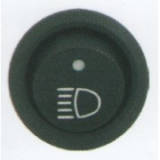 Comutator rotund Pornit/Oprit 12V cu dubla iluminare - Indicator far LED si indicator functionare