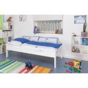 Steiner Shopping Childrens bed / Youth bed Easy Sleep K1/1h, solid beech wood, white painted - 90