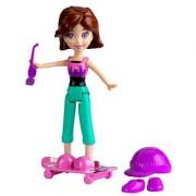 Polly Pocket Adventure Series 3 inch Lila Skateboarding Doll Playset