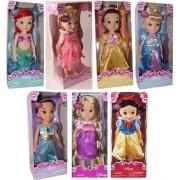 "Disney Store 16"" Disney Princess Toddler Doll 7 Pc. Gift Set: Ariel, Aurora (Sleeping Beauty), Belle, Cinderella, Jasmine, Rapunzel and Snow White by Disney Store"