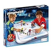 Playmobil 5594 Sports and Action Ice Hockey Match Playset with 2 players and Goalies