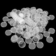 MagiDeal 300 Pieces Clear Round Boxed Coin Holder Container Plastic Capsules Coin Box Display Cases 26mm 27mm 32mm Mixed