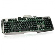 IOGEAR Kaliber Gaming HVER Aluminum Gaming Keyboard - Black/Gray (GKB704L-BK)