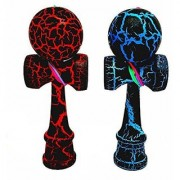 2-PACK - MINI KENDAMA TOY CO. - The Best Pocket Kendama For All Kinds Of Fun (not full size) - Awesome Colors: Black Red