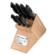 Комплект кухненски ножове и дървен блок Fissler Signum 8 части