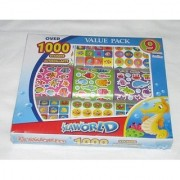 Each box contains 1 000 mini stickers-Will captivate and keep your litte one busy learning fine motor skills-Huge boxes
