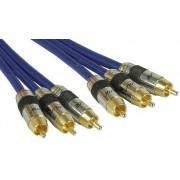 InLine 89650P Câble audio/vidéo RCA Contacts dorés 3x RCA M/M 0,5 m