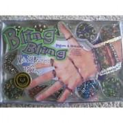 Bling Bling Jewelry Making Kit. Make 24 Bracelets and 12 Rings. New.