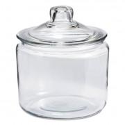 Heritage Hill Glass Jar With Lid, 3 Quart, Clear, Glass Lid