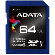 Card de memorie A-DATA Premier Pro SDXC, UHS-I U3, 64GB