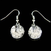 Swarovski Crystal 3D Volleyball Charm Sports Earrings Unisex Jewelry