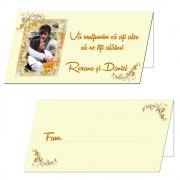 Plicuri bani nunta ivory, personalizate cu fotografie