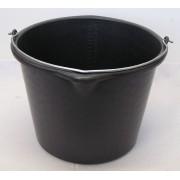 Vědro plastové černé 16 l s výlevkou