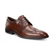 Pantofi business barbati ECCO Illinois Wingtip (Maro / Cognac)