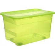 keeeper Kristallbox 52 l mit Rollen fresh-green